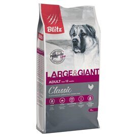 Корм для собак Blitz Adult Dog Large & Giant Breeds dry (15 кг)