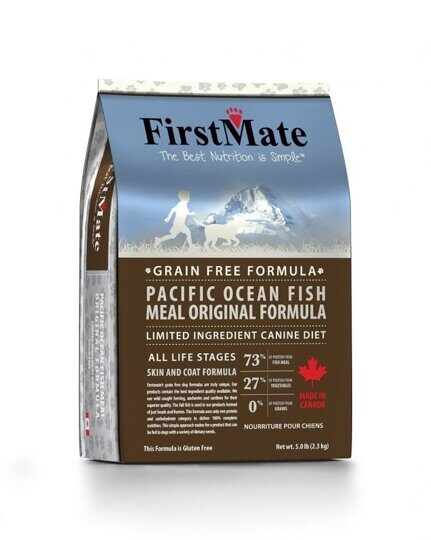 FirstMate Pacific Ocean Fish Meal Original корм беззерновой для собак с рыбой 2,3 кг