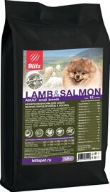 Корм для собак Blitz Holistic Grain Free Lamb and Salmon Small Breeds dry (0.5 кг)