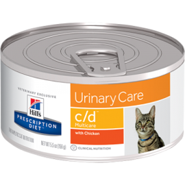 Корм для кошек Hill's (0.156 кг) 1 шт. Prescription Diet C/D Multicare Feline Minced with Chicken canned