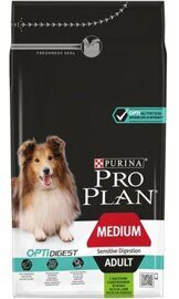 Корм для собак Purina Pro Plan Medium Adult сanine Sensitive Digestion Lamb and rice dry 1.5 кг