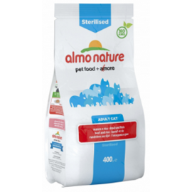 Корм для кошек Almo Nature Functional Adult Sterilised Beef and Rice (0.4 кг)