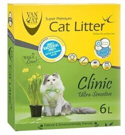 Наполнитель Van Cat Clinic Ultra Sensitive (6 л/5.1 кг)