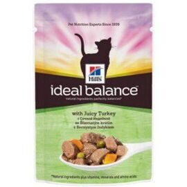 Корм для кошек Hill's (0.085 кг) 1 шт. Ideal Balance Feline Adult with Juicy Turkey wet