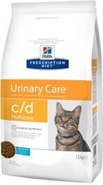 Корм для кошек Hill's Prescription Diet C/D Multicare Feline with Ocean Fish dry 1.5 кг