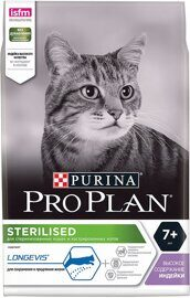 Корм для пожилых кошек Purina Pro Plan Sterilised 7+ feline rich in Turkey dry 10 кг
