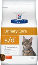 Корм для кошек Hill's Prescription Diet S/D Feline Urinary-Dissolution dry 1.5 кг
