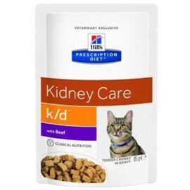Корм для кошек Hill's (0.085 кг) 1 шт. Prescription Diet K/D Feline with Beef wet