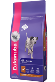Корм для собак Eukanuba Puppy Dry Dog Food All Breeds Rich in Lamb & Rice 1 кг