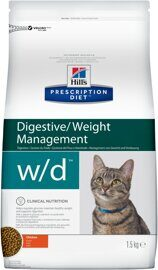Корм для кошек Hill's Prescription Diet W/D Feline Low Fat Diabetes Colitis dry 1.5 кг