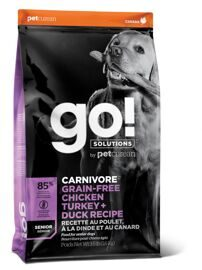 Корм для собак GO! Carnivore Chicken,Turkey, Salmon + Duck Senior Recipe DF 32/14 Grain Free 10 кг