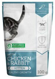 Корм для кошек Nature's Protection Kitten Healthy Growth with Chicken & Rabbit (0.1 кг) 1 шт.