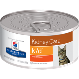 Корм для кошек Hill's (0.156 кг) 1 шт. Prescription Diet K/D Feline Minced with Chicken canned