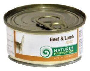 Корм для кошек Nature's Protection Консервы Cat Adult Beef & Lamb (0.1 кг) 1 шт.