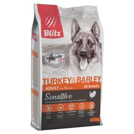 Корм для собак Blitz Adult Dog Turkey & Barley All Breeds dry (2 кг)