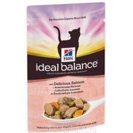 Корм для кошек Hill's (0.085 кг) 1 шт. Ideal Balance Feline Adult with Delicious Salmon wet