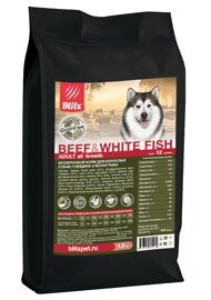 Корм для собак Blitz Holistic Grain Free Beef and White fish All Breeds dry (0.5 кг)