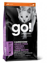 Корм для кошек GO! Fit + Free Grain Free Cat Recipe (Turkey, chicken, trout, duck) 7.26 кг