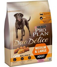 Корм для собак Purina Pro Plan Duo Delice Adult сanine rich in Salmon with Rice dry 10 кг