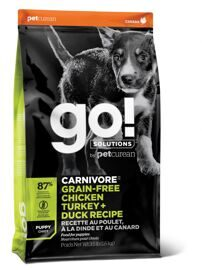 Корм для собак GO! Carnivore Chicken,Turkey, Salmon + Duck Puppy Recipe DF 36/18 Grain Free 10 кг