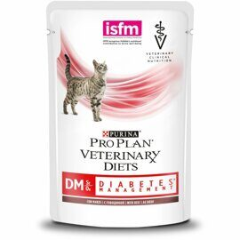 Корм для кошек Pro Plan Veterinary Diets Feline DM Diabetes Management Beef pouch (0.085 кг) 1 шт