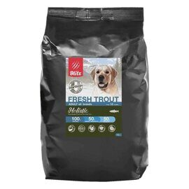 Корм для собак Blitz Holistic Fresh Trout All Breeds dry (0.5 кг)