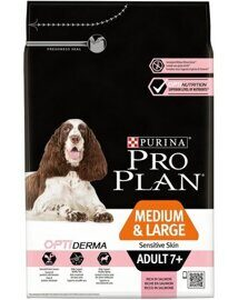 Корм для собак Purina Pro Plan Medium & Large Adult 7+ сanine Sensitive Skin dry 14 кг