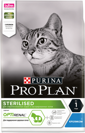Корм для кошек Purina Pro Plan Sterilised feline with Rabbit dry 1.5 кг