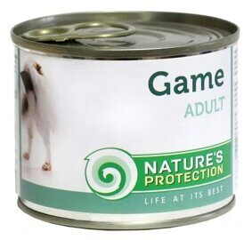 Корм для собак Nature's Protection Консервы Dog Adult Game (0.4 кг) 1 шт.