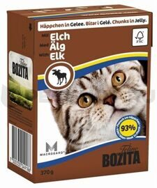 Корм для кошек Bozita Feline chunks in jelly with Elk (0.37 кг) 1 шт.