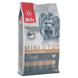 Корм для собак Blitz Adult Dog Mini & Toy Breeds dry (2 кг)
