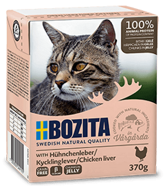 Корм для кошек Bozita Feline chunks in jelly with Chicken Liver (0.37 кг) 1 шт.