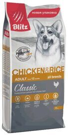 Корм для собак Blitz Adult Dog Chicken and Rice All Breeds dry (15 кг)