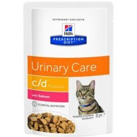 Корм для кошек Hill's (0.085 кг) 1 шт. Prescription Diet C/D Multicare Feline with Salmon wet
