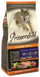 Корм для собак Primordial Adult Mini Breed Утка, форель (0.4 кг)
