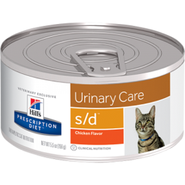 Корм для кошек Hill's (0.156 кг) 1 шт. Prescription Diet S/D Feline Urinary-Dissolution Liver with canned