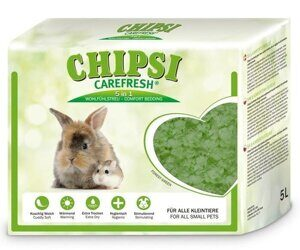 Chipsi Carefresh Forest Green зеленый бумажный наполнитель для мелких животных и птиц 5 л