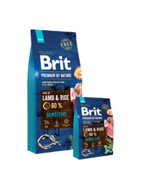 Корм для собак Brit (1 кг) Premium by Nature Sensitive Lamb & rice