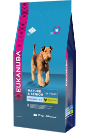Корм для собак Eukanuba Mature & Senior Dry Dog Food For Large Breed Chicken 4 кг