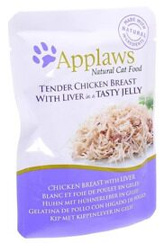 Корм для кошек Applaws Cat Pouch Tender Chicken Breast with Liver in a tasty jelly (0.07 кг) 1 шт.