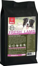 Корм для собак Blitz Holistic Fresh Lamb All Breeds dry (12 кг)