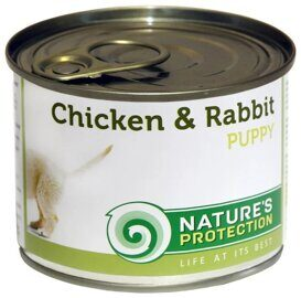 Корм для собак Nature's Protection Консервы Puppy Chicken & Rabbit (0.4 кг) 1 шт.