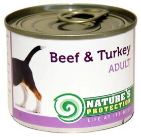 Корм для собак Nature's Protection Консервы Dog Adult Beef & Turkey (0.4 кг) 1 шт.