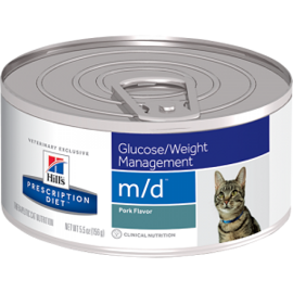Корм для кошек Hill's (0.156 кг) 1 шт. Prescription Diet M/D Feline Minced with Liver canned