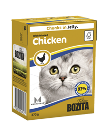 Корм для кошек Bozita Feline chunks in jelly with Minced Chicken (0.37 кг) 1 шт.