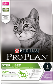 Корм для кошек Purina Pro Plan Sterilised feline rich in Turkey dry 1.5 кг
