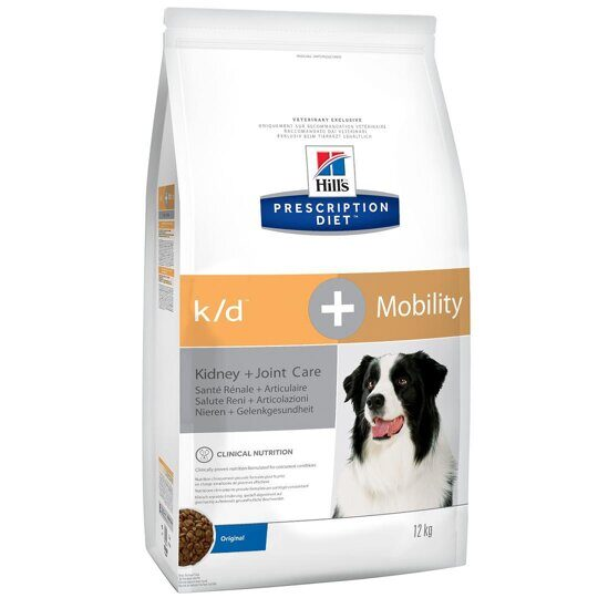 Корм для собак Hill's Prescription Diet K/D+Mobility Canine Original dry 12 кг