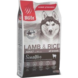 Корм для собак Blitz Adult Dog Lamb and Rice All Breeds dry (2 кг)