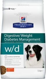 Корм для собак Hill's Prescription Diet W/D Canine Low Fat Diabetes Colitis with Chicken dry 1.5 кг